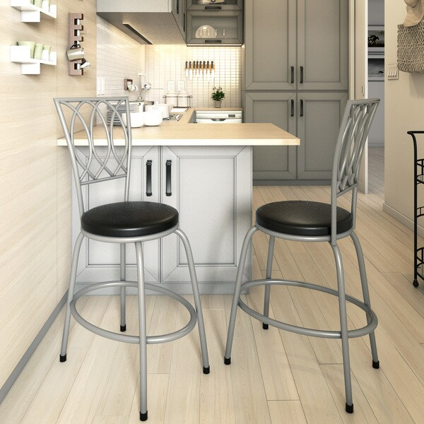 Porch & Den Botanical Heights Folsom Counter Height Adjustable Metal Powder-coated Bar Stool