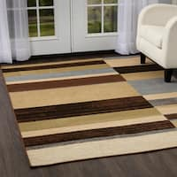 Porch & Den Wyman Green and Blue Area Rug - 5'2 x 7'2