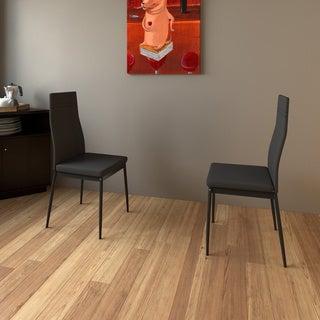 Porch & Den LoDo Larimer Grey Dining Chairs (Set of 2)