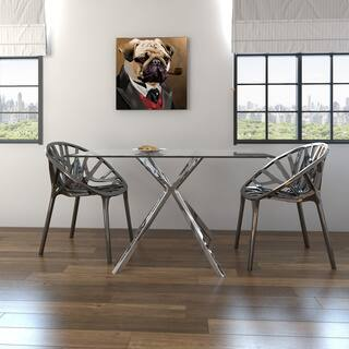 Buy Glass Kitchen Dining Room Tables Online At Overstockcom Our - Glass dining room table with extension