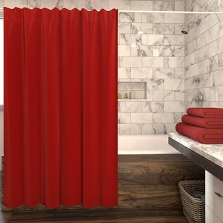 Porch & Den Noe Valley Portola Solid Shower Curtain