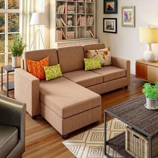Porch & Den Brickshire Brown Convertible Sectional
