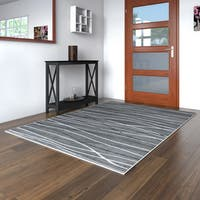 Porch & Den Somerville Newbury Grey Rectangle Plush Indoor Area Rug - 5'2 x 7'2