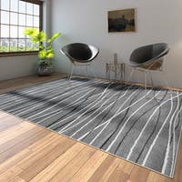 Porch & Den Somerville Newbury Grey Rectangle Plush Indoor Area Rug - 7'9 x 9'6