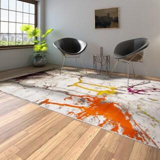 Safavieh Handmade Soho Waves Modern Abstract Brown Wool