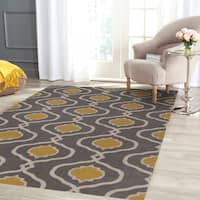Porch & Den Marigny Chartres Grey/ Yellow Polypropylene Trellis Area Rug - 9' x 12'