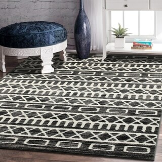 Porch & Den Somerville Bonair Titanium and Gardenia Olefin Area Rug - 5'2 x 7'2