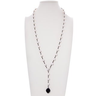 Freshwater Cultured Pearl Necklace with Cubic Zirconia Pendant