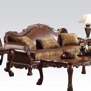 Dresden Sofa With 3 Pillows, Brown