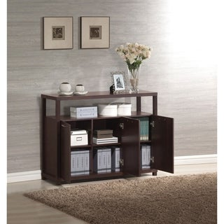 Benzara Hill Espresso-finished Wood/ Veneer Console Table (Option: Espresso)