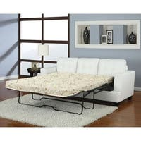 Platinum Sofa With Queen Sleeper, White