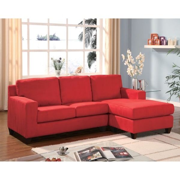 Vogue Sectional Sofa, Red