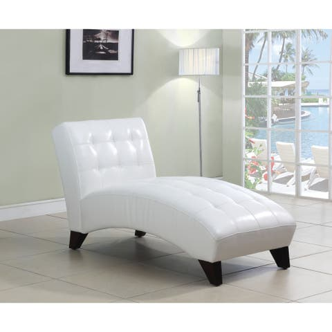 Anna Lounge Chaise, White