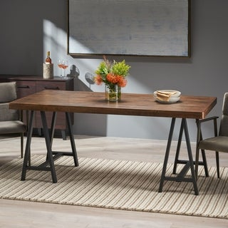 Marchello Farmhouse Wood Dining Table by Christopher Knight Home - Walnut