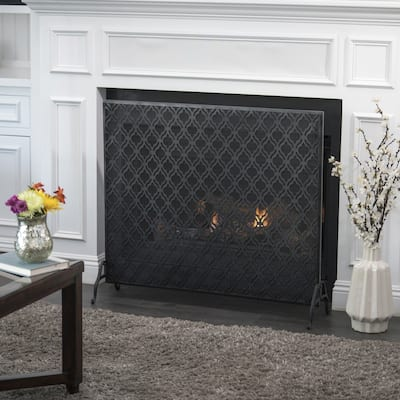 Ellias Single Panel Fireplace Screen by Christopher Knight Home