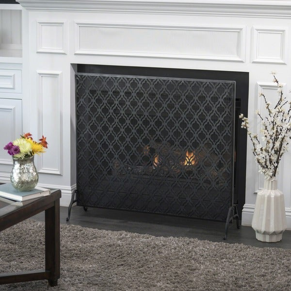 Ellias Single Panel Fireplace Screen By Christopher Knight Home by Christopher Knight Home