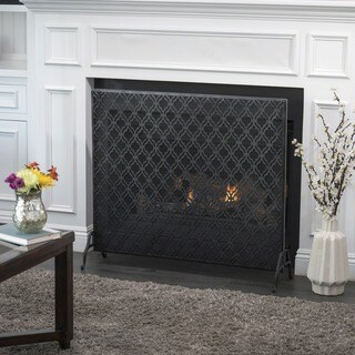 Ellias Single Panel Iron Fireplace Screen by Christopher Knight Home (2 options available)