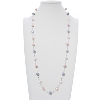 Multi-Color Freshwater Cultured Pearl Chain Necklace