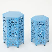 """Wanda 12-inch & 14-inch 2-piece Side Table Set by Christopher Knight Home - 18.25""""H x 12""""W x 12""""D/22""""H x 14.25""""W x 14.25""""D"""