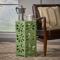 Giselle 14-inch Floral Iron Side Table by Christopher Knight Home