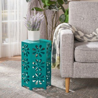 Giselle 12-inch Floral Iron Side Table by Christopher Knight Home