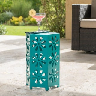 Dandelion Outdoor 12-inch Floral Side Table by Christopher Knight Home