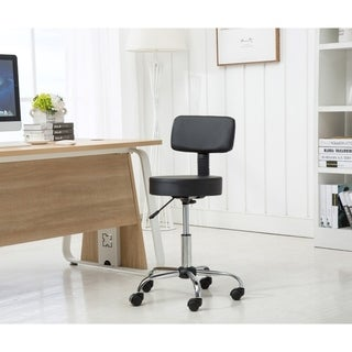 Porthos Home Adjustable Stool With Tilt Adjust And Nylon Caster Wheels