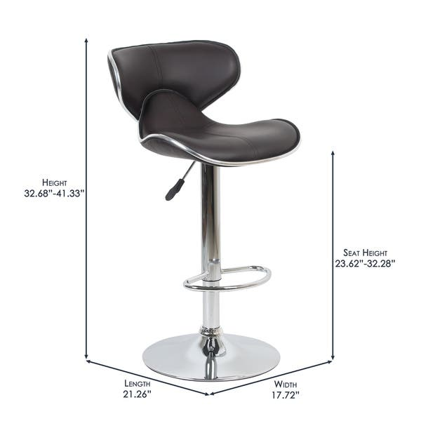 Remarkable Shop Porthos Home Bar Stool With Wingback Seat Adjustable Ncnpc Chair Design For Home Ncnpcorg