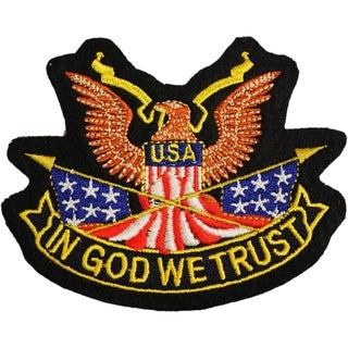 USA Eagle In God We Trust Patch 3-5/8 Inches