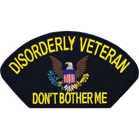 Disorderly Veteran Don't Bother Me Fun Patch 3 by 5-1/4 Inches
