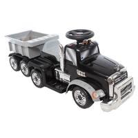 6V Mack Truck with Trailer - Black