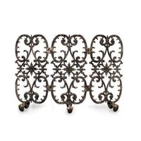 Ornamental Designs Sienna Traditional Hand-painted-finished Cast Aluminum 3-panel Freestanding Fireplace Screen