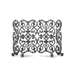 Ornamental Designs Avalon Traditional Hand-painted-finished Cast Aluminum 2-panel Freestanding Fireplace Screen With Sides