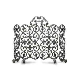 Ornamental Designs Avalon Hand-painted-finished Cast Aluminum 2-panel Freestanding Fireplace Screen With Arch and Sides