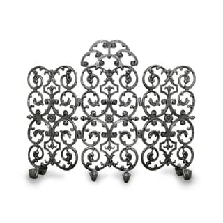 Ornamental Designs Avalon Cast Aluminum 3-panel Hand-painted Fireplace Screen with Arch