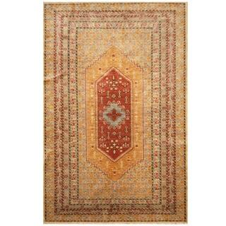 Handmade Herat Oriental Afghan Hand-knotted Vegetable Dye Tabriz Wool Rug (Afghanistan) - 6'2 x 9'7