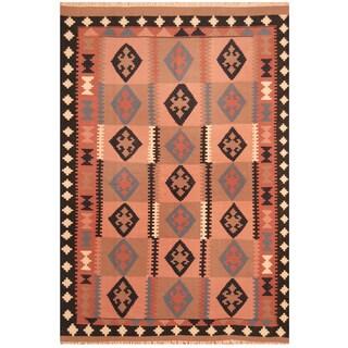 Handmade Herat Oriental Afghan Hand-woven Vegetable Dye Kilim Wool Rug (6'6 x 9'6)