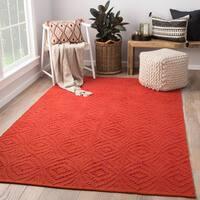 Arbor Red/ Orange Handmade Trellis Area Rug (9' X 12')