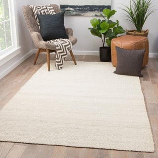 Quito Solid White Natural Jute Area Rug (10' x 14') - 10' x 14'