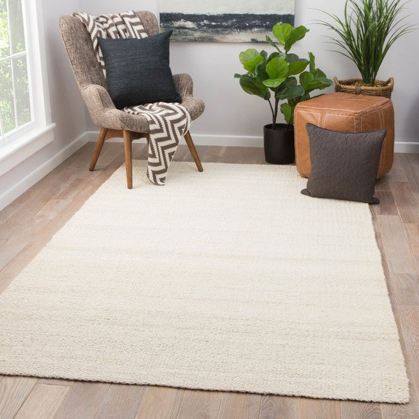 10x14 Rugs Quito Solid White Natural Jute Area Rug 10 X27