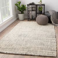 Juniper Home Alcott White/Black Natural Jute Area Rug (10' x 14')