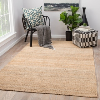 "Quito Natural Beige Jute Solid Area Rug (9' X 12') - 8'10"" x 11'9"""