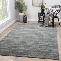 Juniper Home Hadrian Dark Grey Wool Handmade Solid Area Rug (9' x 13')