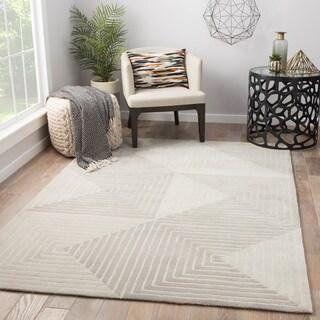 Safavieh Handmade Wyndham Grey Ivory Wool Rug 8 9 X 12