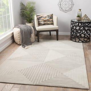 Juniper Home Zaydan Geometric Grey/ Cream Handmade Area Rug (9' x 12') https://ak1.ostkcdn.com/images/products/18247313/P24384843.jpg?impolicy=medium