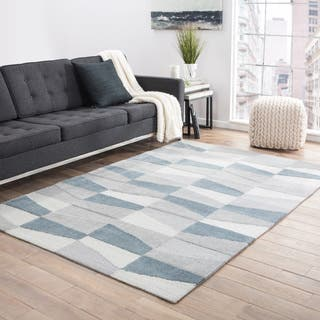 Juniper Home Pavlo Grey Handmade Geometric Area Rug (9' x 12')|https://ak1.ostkcdn.com/images/products/18247314/P24384844.jpg?impolicy=medium
