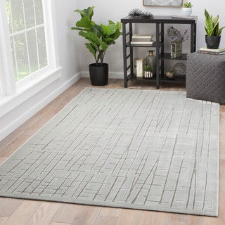"Eline Abstract Silver/Gray Area Rug (9' x 12') - 8'10"" x 11'9"""