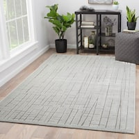 Eline Abstract Silver/Gray Area Rug (9' x 12')