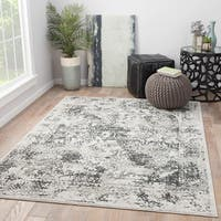 Maison Rouge Beaumont White/Grey Abstract Area Rug - 9' x 12'