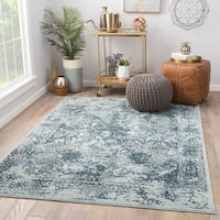 Maison Rouge Francis Abstract Blue/Teal Viscose Blend Area Rug